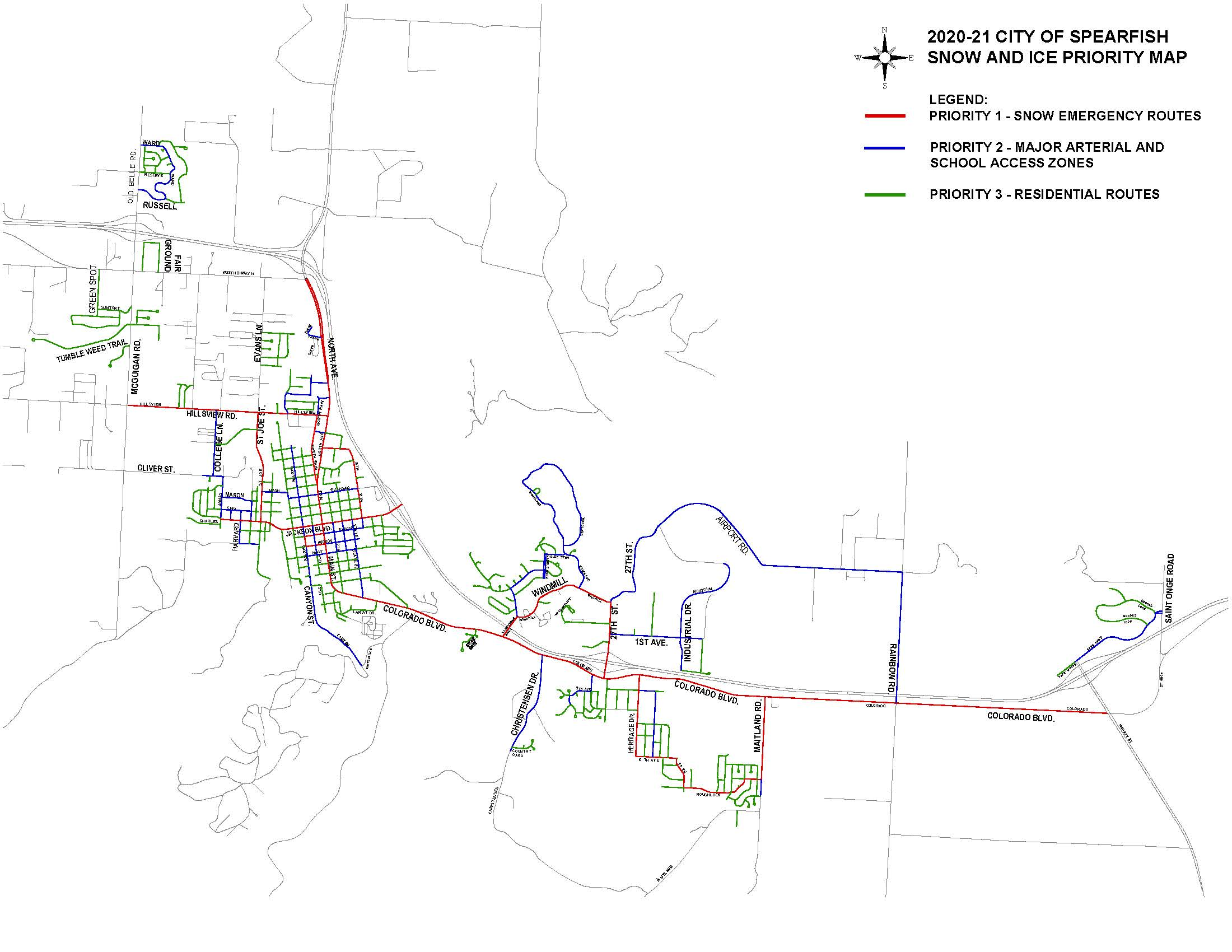 Priority Snow Route Map (PDF)