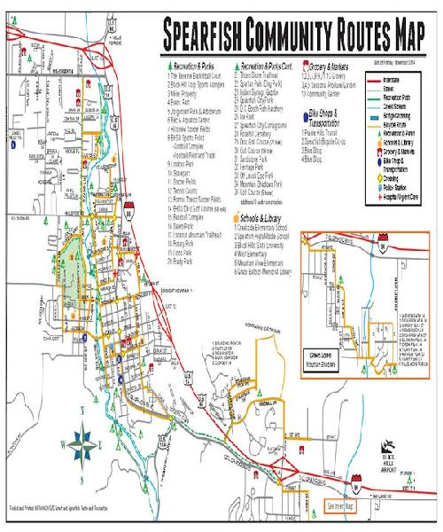 Spearfish Recreation and Bike Path Map (PDF)